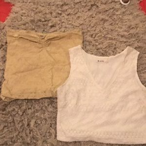 Super sweet cropped tube and tank bundle